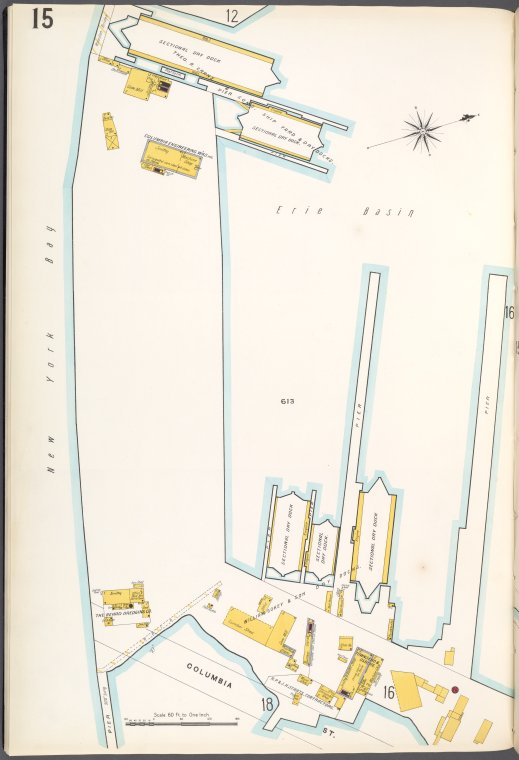 Brooklyn Plate No. 15 [Map bounded by New York Bay, Columbia St.]