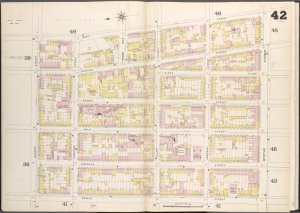 Brooklyn V. 2, Double Page Plate No. 42 [Map bounded by Navy St., Myrtle St., Bridge St., Nassau St.]