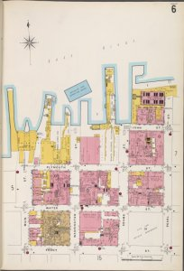 Brooklyn V. 2, Plate No. 6 [Map bounded by Main St., East River, Pearl St., Front St.]