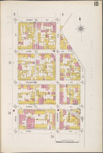 Brooklyn V. 2, Plate No. 10 [Map bounded by Gold St., Front St., Navy St., High St.]