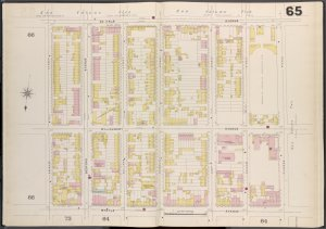 Brooklyn V. 3, Double Page Plate No. 65 [Map bounded by De Kalb Ave., Classon Ave., Myrtle Ave., Spencer St.]