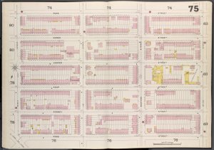 Brooklyn V. 3, Double Page Plate No. 75 [Map bounded by Penn St., Wythe Ave., Ross St., Marcy Ave.]