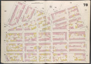 Brooklyn V. 3, Double Page Plate No. 78 [Map bounded by Marcy Ave., Roebling St., S.3rd St., Hooper St.]