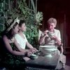 [Barbara Luna (Ngana), Michael or Noel DeLeon (Jerome) and Mary Martin (Nellie Forbush) in South Pacific]