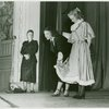 Lucinda Ballard (costumes), center, during costume parade for Allegro]