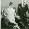 [Richard Rodgers (music), Florence Henderson (Nellie Forbush) and Georgio Tozzi (Emile de Becque) in rehearsal for the 1967 revival of South Pacific]