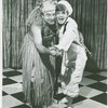 [David Doyle (Luther Billis) and Florence Henderson (Nellie Forbush) in rehearsal for the 1967 revival of South Pacific]