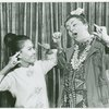 [Eleanor Calbes (Liat) and Irene Byatt (Bloody Mary) in the 1967 revival of South Pacific]
