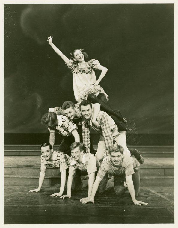 [Kathryn Lee (Hazel Skinner) and dancers in Allegro]