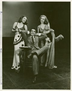 [Patricia Bybell (Addie), John Conte (Charlie Townsend) and Julie Humphries (Millie) in Allegro]
