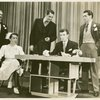 Lawrence Fletcher (Dr. Bigby Denby), Lisa Kirk (Emily West), Stephen [Alden] Chase (Brook Lansdale), John Battles (Joseph Taylor, Jr.) and John Conte (Charlie Townsend) in Allegro]
