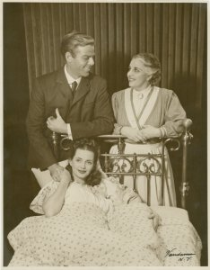 [Annamarie Dickey (Marjorie Taylor), William Ching (Dr. Joseph Taylor) and Muriel O'Malley (Grandma Taylor) in Allegro]