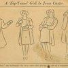 A 'zip-tease' girl is Jean Casto