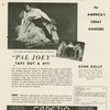 Advertisement in The American Dancer (April, 1941) featuring Gene Kelly (Joey Evans) and cast members from Pal Joey
