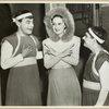 [Jimmy Savo (Dromio of Syracuse), Dorothy Lamour and Teddy Hart (Dromio of Ephesus) backstage at The Boys from Syracuse]
