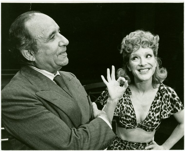 [Harold Gary (Mike Spears) and Janie Sell (Gladys Bump) in the 1976 revival of Pal Joey]