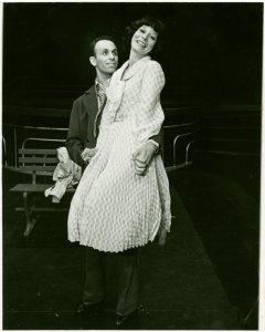[Chrisopher Chadman (Joey Evans) and Boni Enten (Linda English) in the 1976 revival of Pal Joey]