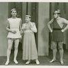 Eddie Albert (Antipholus of Syracuse), Jimmy Savo (Dromio of Syracuse) and Bob Lawrence (Singing Policeman) in The Boys from Syracuse]