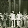 Eddie Albert (Antipholus of Syracuse), Ronald Graham (Antipholus of Ephesus) and cast of The Boys from Syracuse]