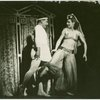 Teddy Hart (Dromio of Ephesus) and Heidi Vosseler (Secretary to Courtesan) in The Boys from Syracuse]