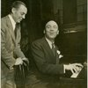 Richard Rodgers (music) and Johnny Green (musical director) in rehearsal for By Jupiter