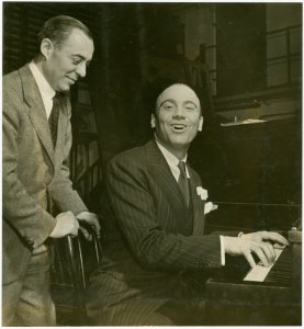 [Richard Rodgers (music) and Johnny Green (musical director) in rehearsal for By Jupiter]