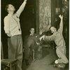 Robert Alton (choreographer), Joshua Logan (director) and Ray Bolger (Sapiens) in rehearsal for By Jupiter