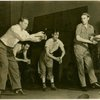 Robert Alton (choreographer), far left, with dancers in rehearsal for By Jupiter