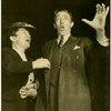 Lina Abarbanell (assistant to the producer) and Ray Bolger (Sapiens) in rehearsal for By Jupiter