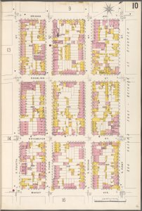 Brooklyn V. 3, Plate No. 10 [Map bounded by Driggs Ave., S.1st St., Marcy Ave., S.4th St.]