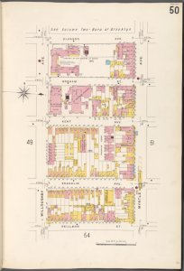 Brooklyn V. 3, Plate No. 50 [Map bounded by Classon Ave., Myrtle Ave., Skillman St., Willoughby Ave.]