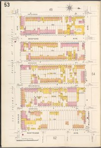 Brooklyn V. 3, Plate No. 53 [Map bounded by Skillman St., Willoughby Ave., Nostrand Ave., De Kalb Ave.]