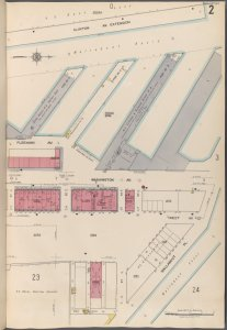 Brooklyn V. 3, Plate No. 2 [Map bounded by Clinton Ave., Wallabout Pl.]