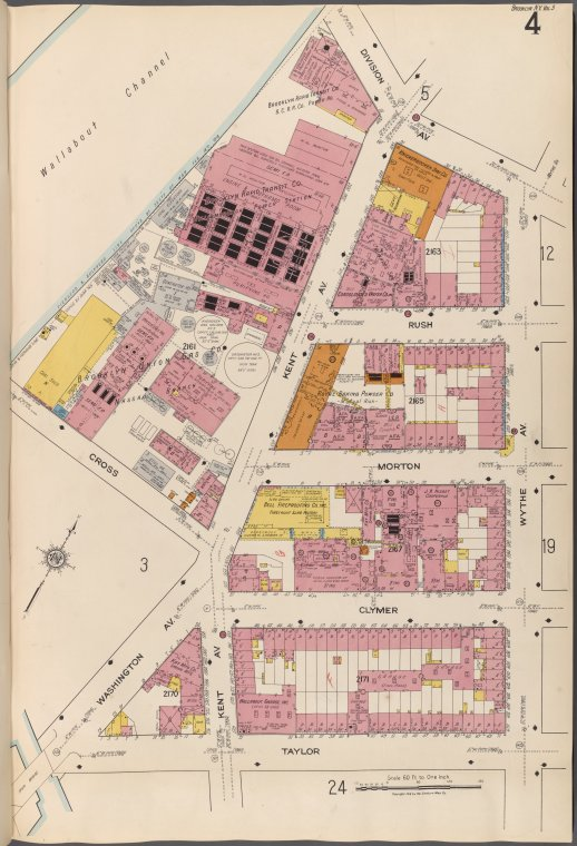 Brooklyn V. 3, Plate No. 4 [Map bounded by Division Ave., Wythe Ave., Taylor, Washington Ave.]eng