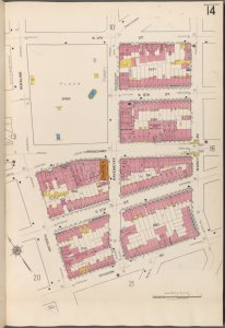 Brooklyn V. 3, Plate No. 14 [Map bounded by S.4th St., Marcy Ave., Division Ave., Roebling]