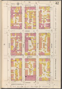 Brooklyn V. 3, Plate No. 42 [Map bounded by Manhattan Ave., Maujer, Bushwick Ave., Scholes]