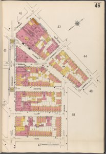 Brooklyn V. 3, Plate No. 46 [Map bounded by Graham Ave., Debevoise, Morrell, Beaver, Park, Broadway]