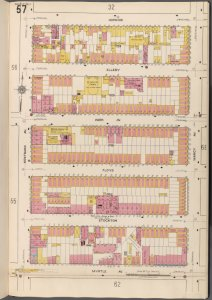 Brooklyn V. 3, Plate No. 57 [Map bounded by Hokins, Marcy Ave., Myrtle Ave., Nostrand Ave.]
