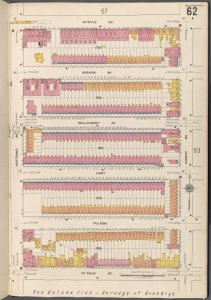 Brooklyn V. 3, Plate No. 62 [Map bounded by Myrtle Ave., Marcy Ave., De Kalb Ave., Nostrand Ave.]