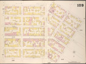 Brooklyn V. 4, Double Page Plate No.109 [Map bounded by Stagg St., Hewes St., S. 3rd St., Keap St., Ainslie St., Leonard St.]