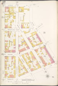 Brooklyn V. 4, Plate No. 27 [Map bounded by Leonard St., Bayard St., Humboldt St., Frost St.]