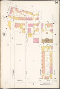 Brooklyn V. 4, Plate No. 34 [Map bounded by Oak St., Lorimer St., Norman Ave., Franklin St.]