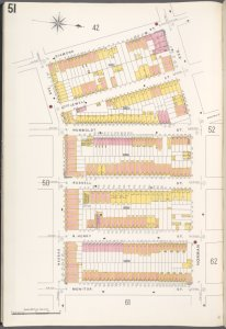 Brooklyn V. 4, Plate No. 51 [Map bounded by Diamond St., Norman Ave., Monitor St., Nassau Ave.]