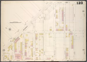 Brooklyn, V. 5, Double Page Plate No. 120 [Map bounded by Broadway, Saratoga Ave., Halsey St., Ralph Ave., Quincy St.]