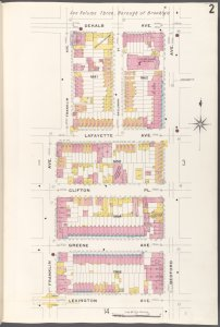 Brooklyn V. 5, Plate No. 2 [Map bounded by Dekalb Ave., Bedford Ave., Lexington Ave., Franklin Ave.]