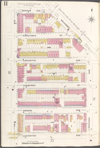 Brooklyn V. 5, Plate No. 11 [Map bounded by Dekalb Ave., Broadway, Patchen Ave., Lexington Ave., Reid Ave.]