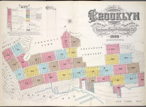 Insurance Maps of the Brooklyn city of New York Volume Six. Published by the Sanborn map co. 117, Broadway, New York. 1888.
