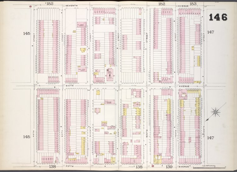 Brooklyn, V. 6, Double Page Plate No. 146 [Map bounded by 7th Ave., 11th St., 5th Ave., 5th St.]