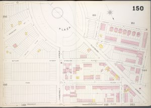 Brooklyn, V. 6, Double Page Plate No. 150 [Map bounded by Lincoln Place, 7th Ave., Prospect Place]