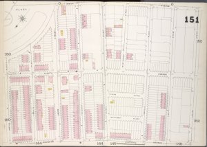 Brooklyn, V. 6, Double Page Plate No. 151 [Map bounded by 9th Ave., 2nd St., 7th Ave., Lincoln Place]